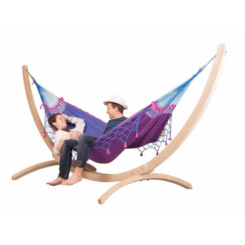 support pour hamacs doubles canoa. Black Bedroom Furniture Sets. Home Design Ideas