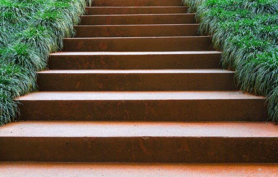 Escalier en acier corten
